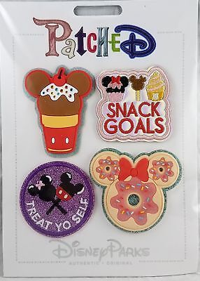Disney Parks Patched Dessert Mickey Minnie Treat Ice Cream Patch Set Adhesive