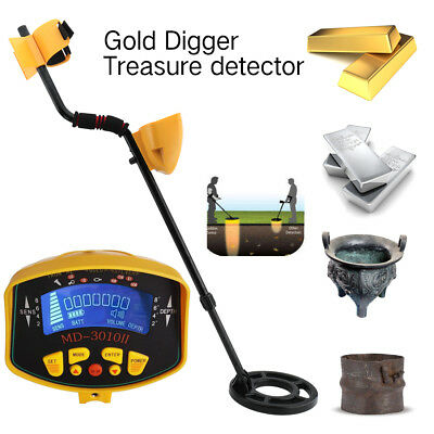 LCD Metal Detector Underground Scanner Finder Gold Digger Treasure Search Tool