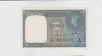 India Paper Money one old notes unc with usual pinholes