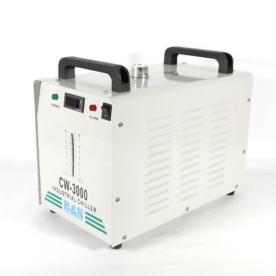 US CW3000 Industrial Water Chiller 50W/℃ CO2 Glass Laser Tube 110V 9L 60HZ New