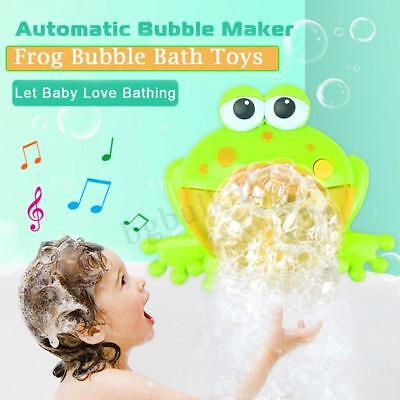 Kid Baby Bubble Tub Frog Automatic Shower Machine Blower Maker Bath Music Toy AU