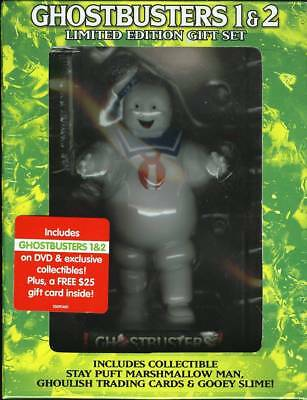 Ghostbusters 1 & 2 Gift Set With Marshmallow Man Dvd New Sealed