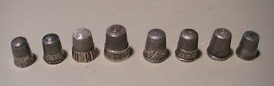 Antique Vintage Sterling Silver Thimbles - Lot of 8