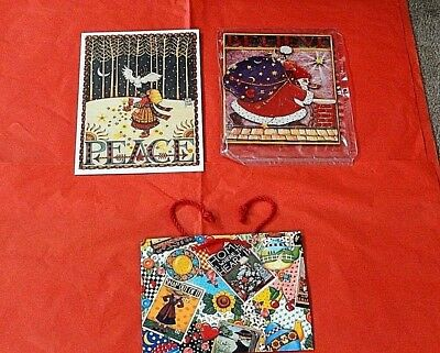 Mary Englebreit  XMAS  POSTERS Classic Gift Items Brand New  w/every day bag