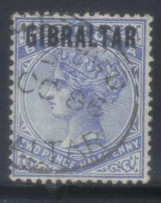 GIBRALTAR 1886 OPTD SG4a USED CAT £150