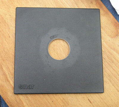 genuine Sinar F & P  lens board panel with copal compur 1  hole  41.6mm