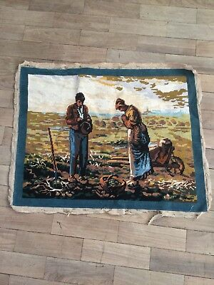 Completed French Vintage Tapestry Farmers, Fields, Farming