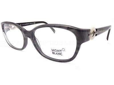 5b6c21fc9048 MONT BLANC women s Grey Marble 54mm Spectacles Glasses Frame MB0442 005