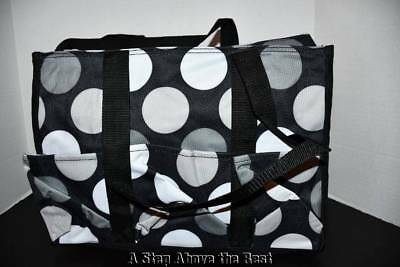 Thirty One Zip Top Organizing Utility Tote In Got Dots New 2499