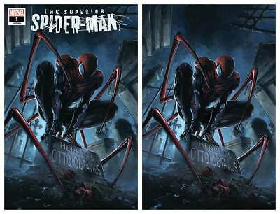 Superior Spider-Man #1 Clayton Crain Trade/virgin Variant Set Limited To 750 Set