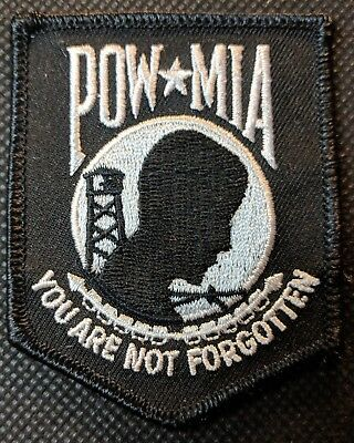 POW MIA You Are Not Forgotten Crest Embroidered Biker Patch