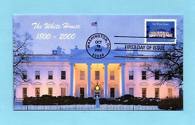U.s. Fdc #3445 Ginsburg Cachet - The 200Th Anniversary Of The White House