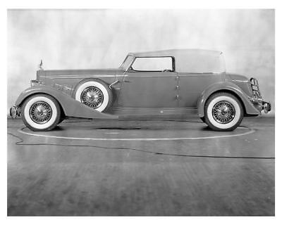1934 Packard 12 Model 1108 Convertible Victoria Factory Photo uc2231-WN6UJT