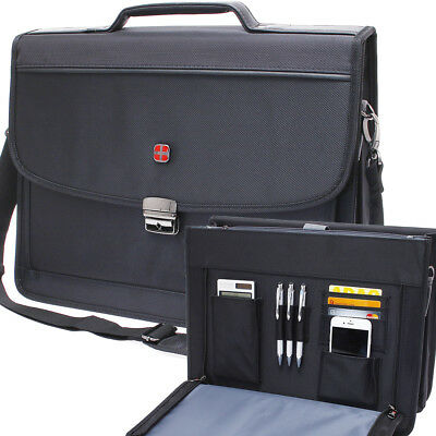 Aktentasche Laptop Business Herren Büro Tasche A4 15 Zoll Laptop Polyester Neu