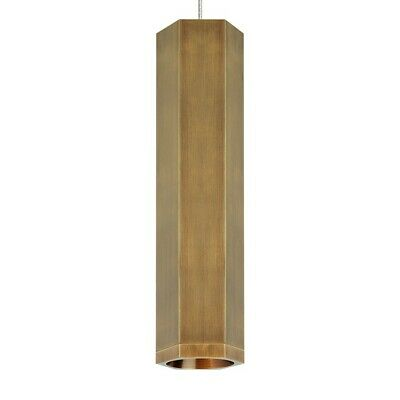 Tech Lighting FJ Blok Small Pendant, Aged Brass/Aged Brass - 700FJBLKSRR
