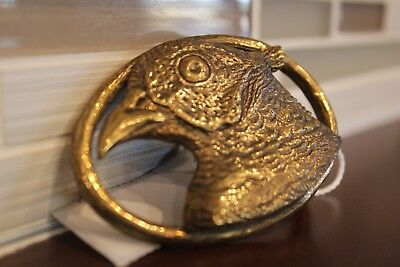 HANDMADE Polished Brass Ring-Necked Pheasant Belt Buckle