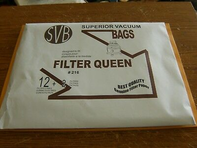 SVB (12)Filter Queen Cones and (2) Filters New and Sealed.