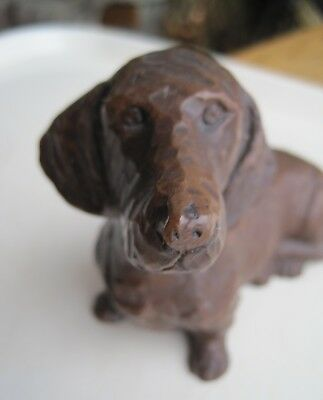 Red Mill Mfg. Dachshund Figurine Resin ? Sculpture Proud Dog Figure Door Stop ?