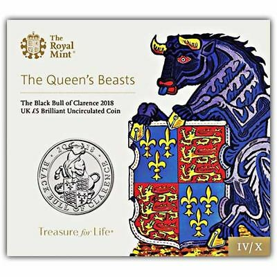The Black Bull of Clarence 2018 UK £5 Brilliant Uncirculated Coin