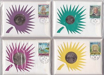 SEYCHELLES 1976 COINS LOT OF 8 PNC's FROM 99 COMPANY