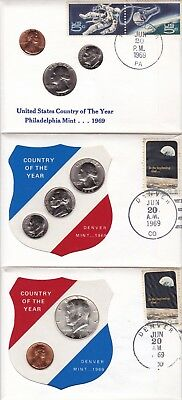 UNITED STATES 1969 COINS LOT OF 5 PNC's FROM 99 COMPANY