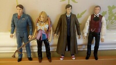 Doctor Who The 10th Doctor Set Of 4 Figures*Rose Tyler,Jack Harkness,Master,Doc