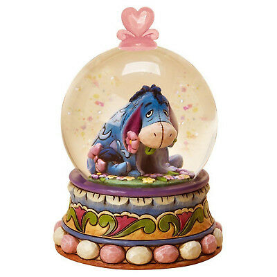 Disney Traditions Gloom to Bloom Eeyore Waterball Snow Globe Resin Figurine Gift