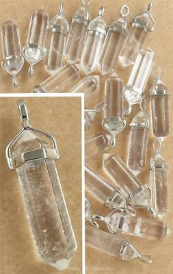 Clear Rock QUARTZ Crystal Point Pendant Necklace Natural Master Healing Chakra