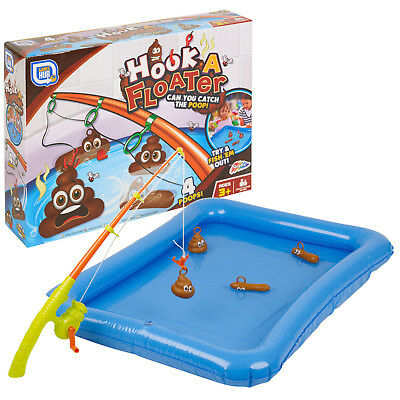 Hook a Floater Childrens Fishing Bath Tub Novelty Catch a Poo Game Gift Prank