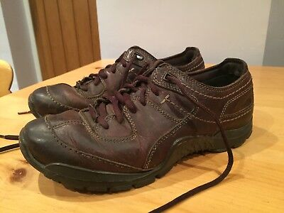 Mens Clarks Active Air Brown Leather Shoes - Size 7