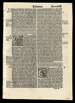 The Holy Gospel According to John Chapters 41-16  New Testament 1519 Bible Leaf