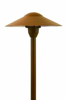 Landscape Low Voltage Lighting - Mushroom Path Light In Rust Finish set of 6