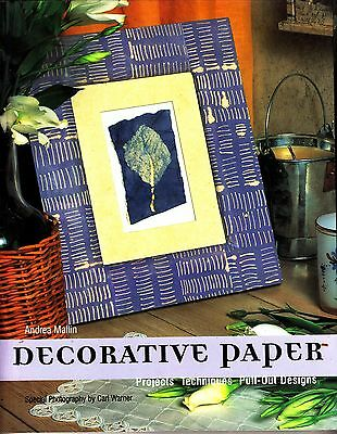 DECORATIVE PAPER CRAFT BOOK Projects, Techniques, Pull Out Designs 96 Pgs NEW