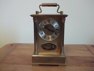Rare Vintage Rapport 8-Day Chiming Sss Marke Pendulum Brass Carriage Clock