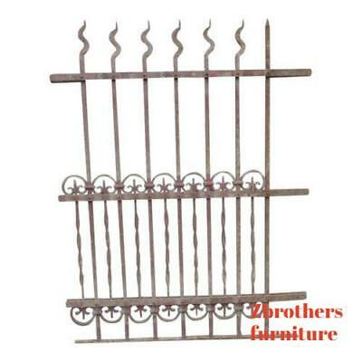 Antique Victorian Iron Gate Window Garden Fence Architectural Salvage Door #316