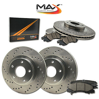 [Front + Rear] Rotors w/Ceramic Pads Drilled Brakes (AWD 300 Challenger Charger)