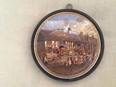 "Prattware Pot Lid  ""shakespeares Birthplace Ext""   Framed  No 226, A Ball Guide."