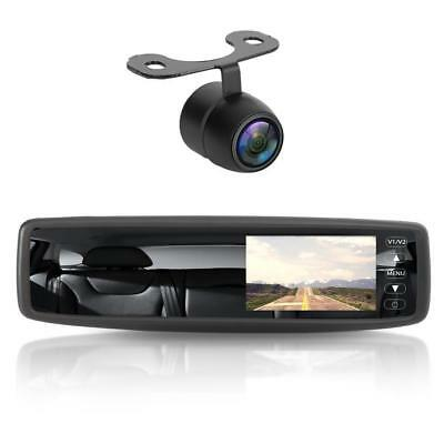 Wireless Rear View Mirror Back-Up Camera and Monitor Parking Assist System, 4.3'