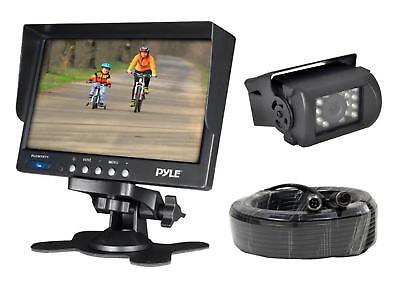 Pyle Weatherproof Rearview Backup Camera & Monitor Video System, Commercial Grad