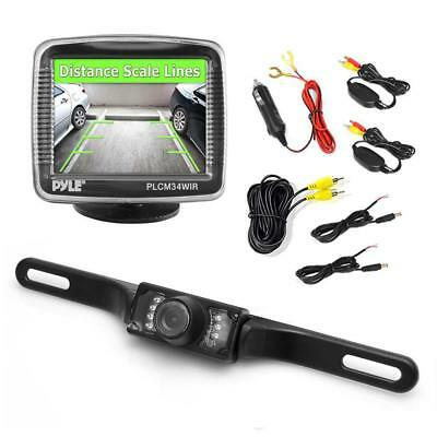 Pyle Wireless Rear View Backup Camera and Monitor Parking/Reverse Assist System,