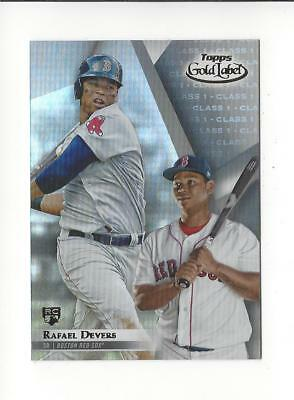 2018 Topps Gold Label Class 1 #1 Rafael Devers RC Rookie Red Sox