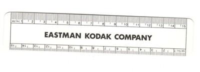 "Advertising Ruler   Eastman Kodak Company  6"" Metric & Inches  Plastic  Film"