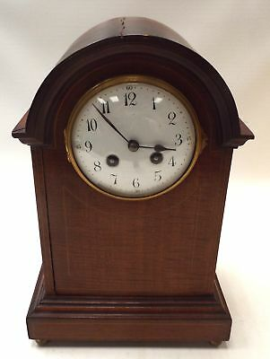 Vintage Wooden Case MANTLE (MANTEL) CLOCK For Spares And Repairs - H47