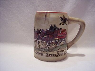 1980 Budweiser Holiday Mug #CS19 Christmas Stein First in Series