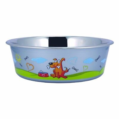 Boomer N Chaser BNC-10007 Sneaky Dog Design Stainless Steel Fusion Bowl, Large