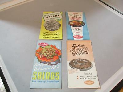 Four Different Vintage  Loma Linda Foods Brochures