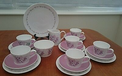 Royal Tuscan Tea Set For 6 Forest Glade  Lovely Colours Immaculate Condition.