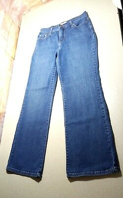 Women's Levi's 512 Perfectly Slimming Bootcut Stretch Denim Blue Jeans Size 10 P