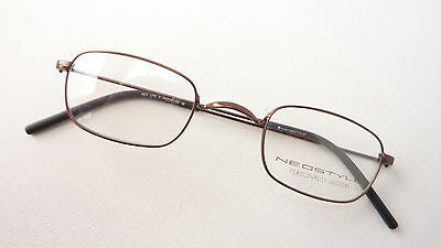 Small Oldschool Glasses Frame Brand Neostyle without Nasenstege Braun SIZE S