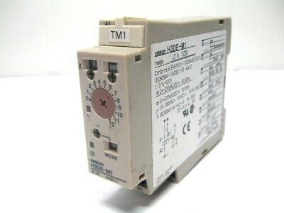 24-230VAC//DC 0.1s-120hr Omron H3DE-M1 Solid State DIN Multi-Function Timer